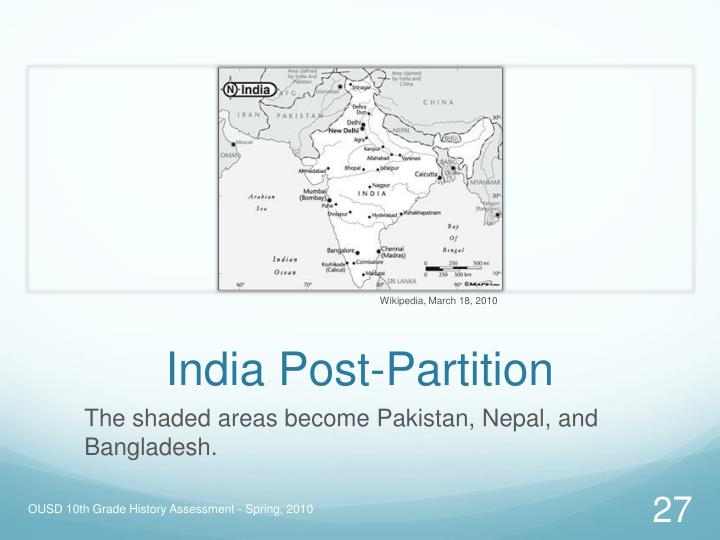 India Post-Partition