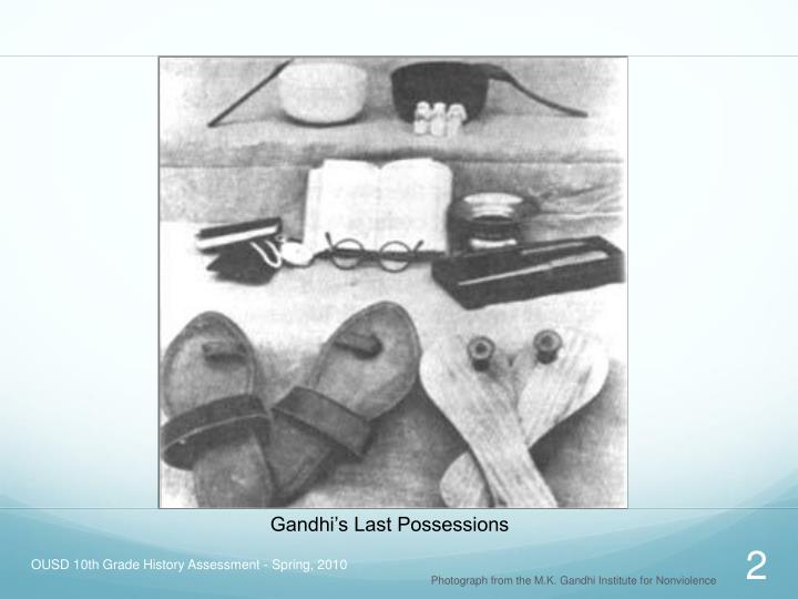 Gandhi's Last Possessions