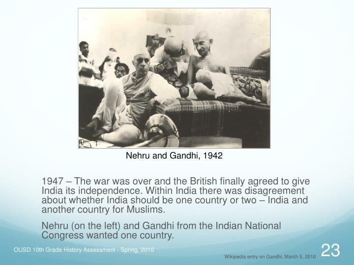 Nehru and Gandhi, 1942