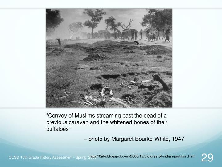 """Convoy of Muslims streaming past the dead of a previous caravan and the whitened bones of their buffaloes"""