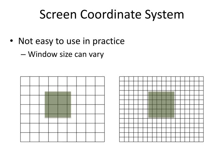 Screen Coordinate System