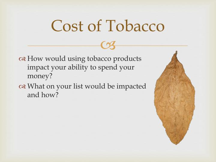 Cost of Tobacco
