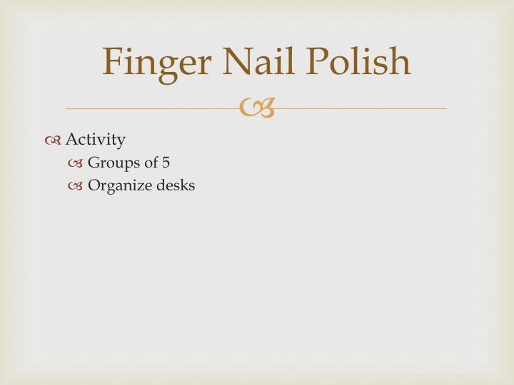 Finger Nail Polish