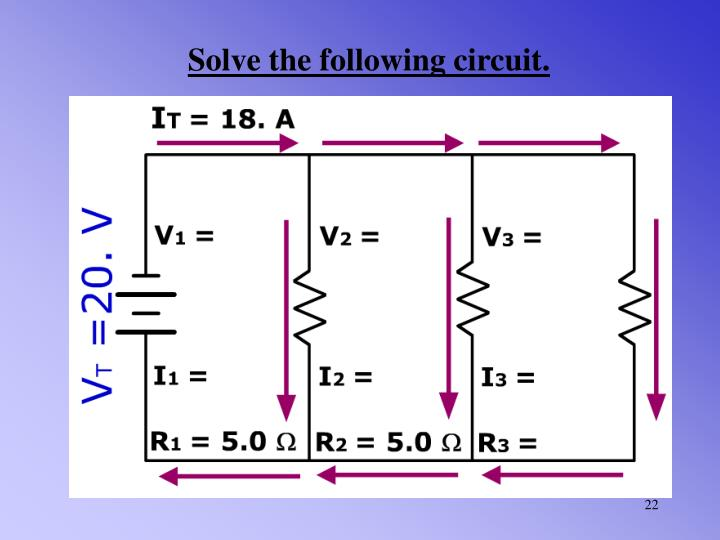 Solve the following circuit.
