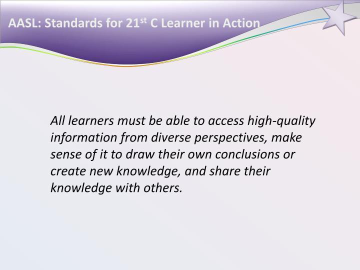 AASL: Standards for 21