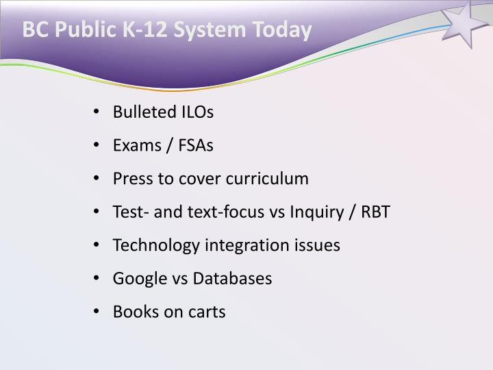 BC Public K-12 System Today