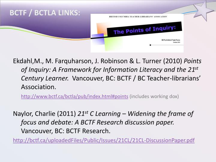 BCTF / BCTLA LINKS: