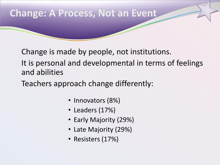 Change: A Process, Not an Event