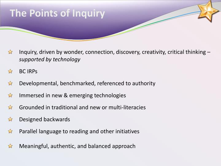 The Points of Inquiry