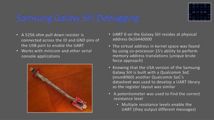 Samsung Galaxy SIII Debugging