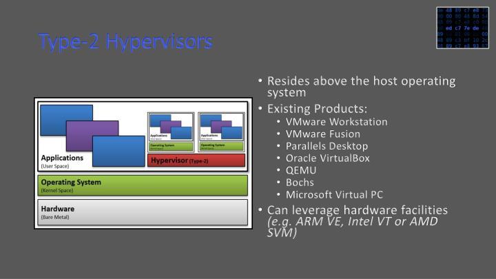 Type-2 Hypervisors