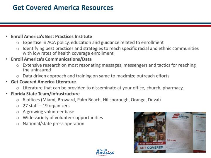Get Covered America Resources