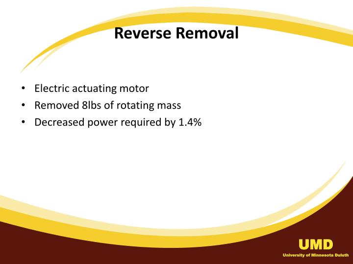 Reverse Removal