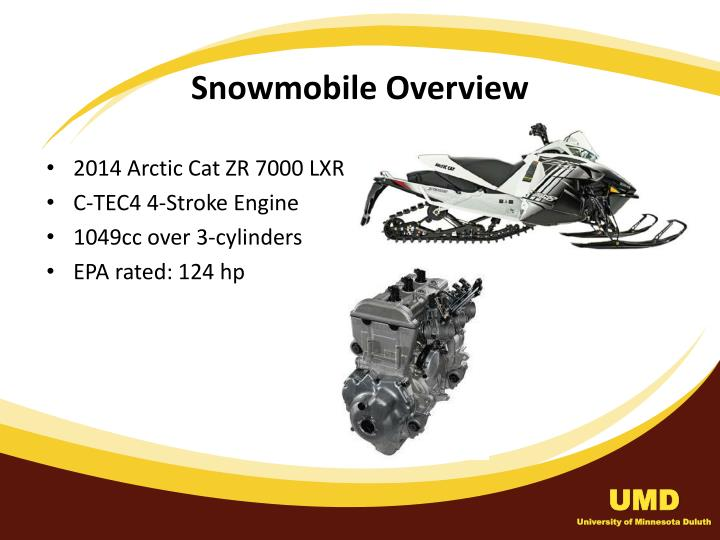 Snowmobile overview