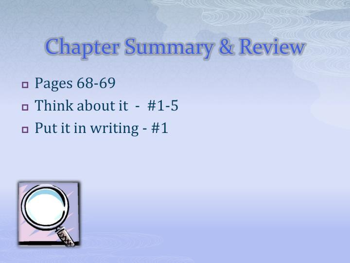 Chapter Summary & Review
