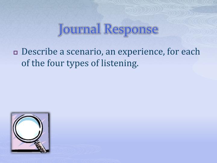 Journal Response