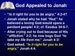 god appealed to jonah