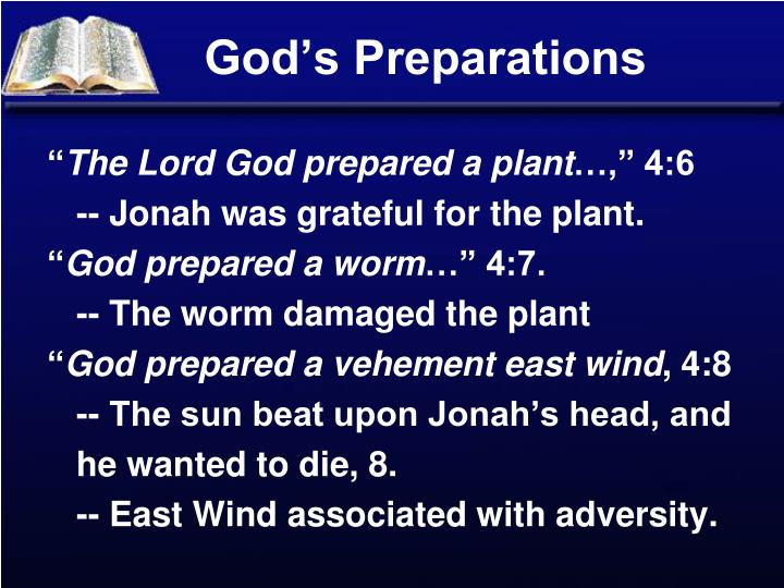 God's Preparations