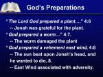 god s preparations