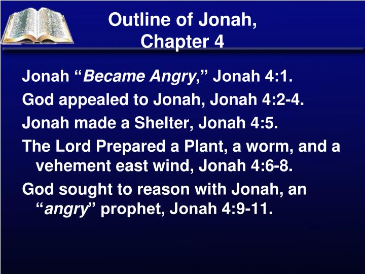 Outline of jonah chapter 4