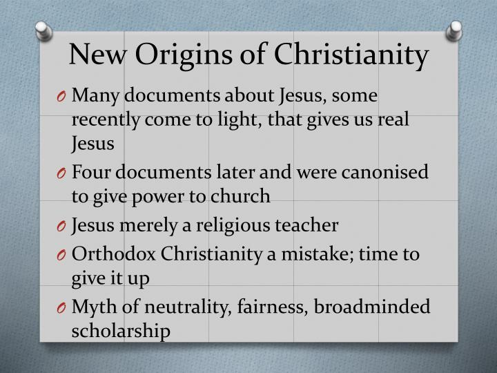 New Origins of Christianity
