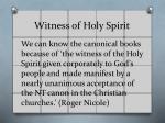 witness of holy spirit