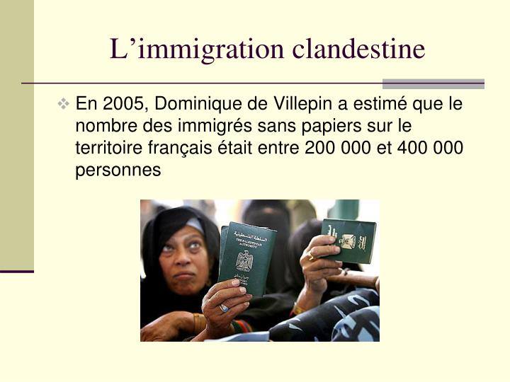 L'immigration clandestine
