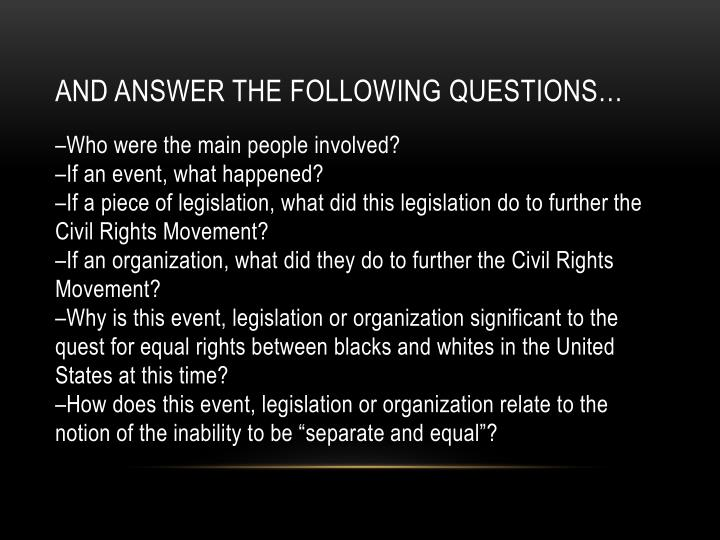 And answer the following questions…