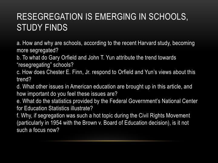 Resegregation