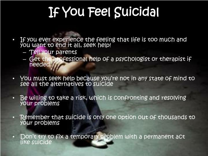 If You Feel Suicidal