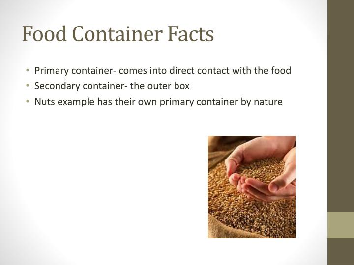 Food Container Facts