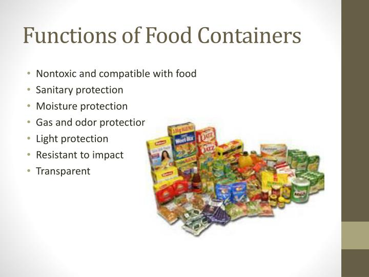 Functions of Food Containers