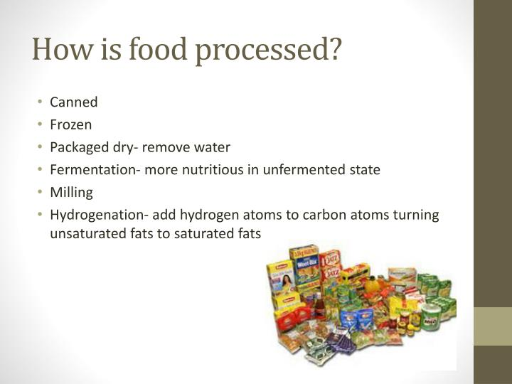 How is food processed?