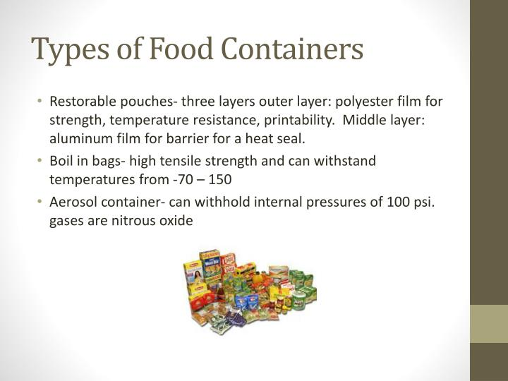 Types of Food Containers