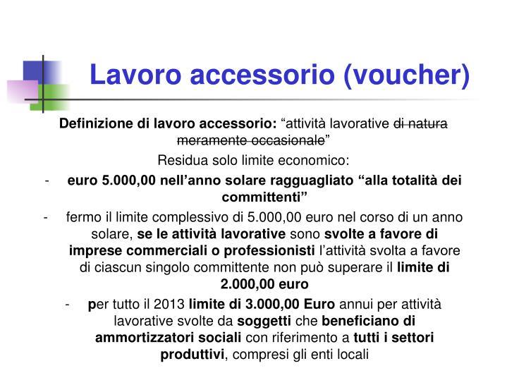Lavoro accessorio (voucher)