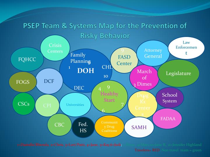PSEP Team & Systems Map for the Prevention of Risky Behavior