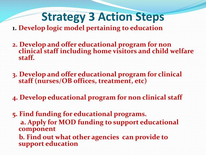 Strategy 3 Action Steps