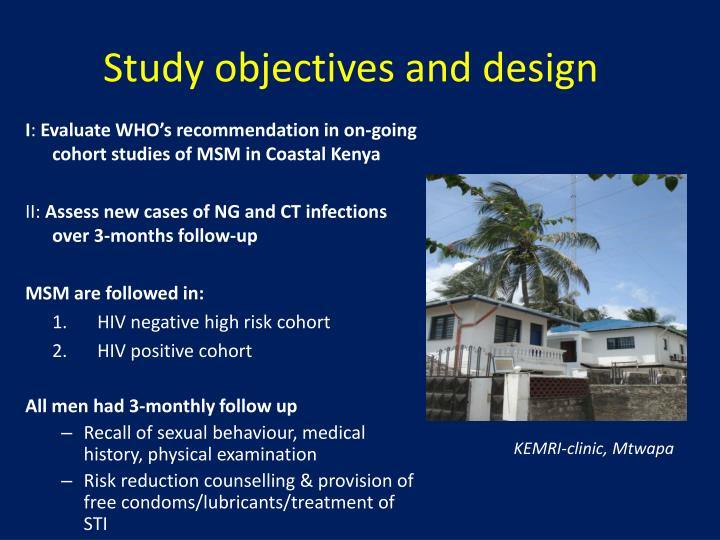 Study objectives and design