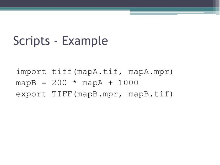 Scripts - Example