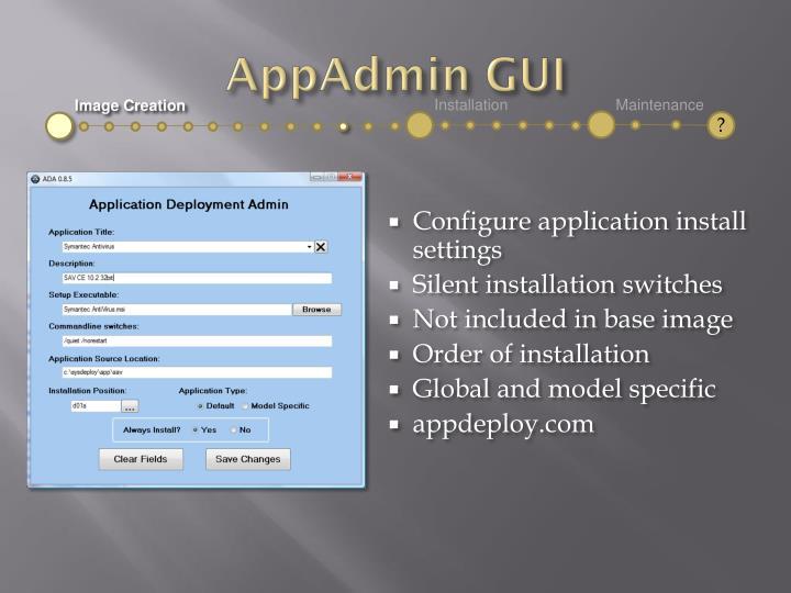 AppAdmin GUI