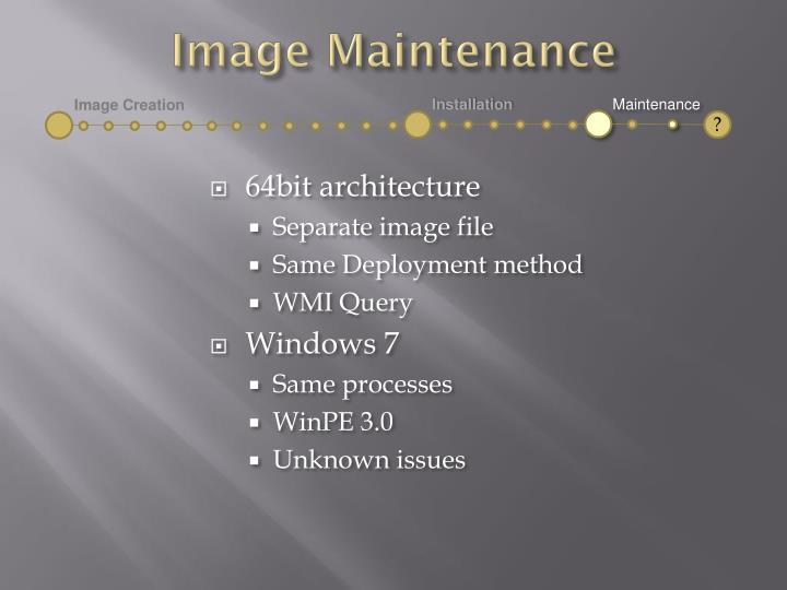 Image Maintenance