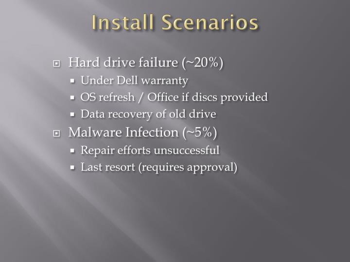 Install Scenarios