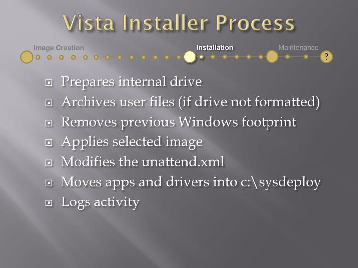 Vista Installer Process