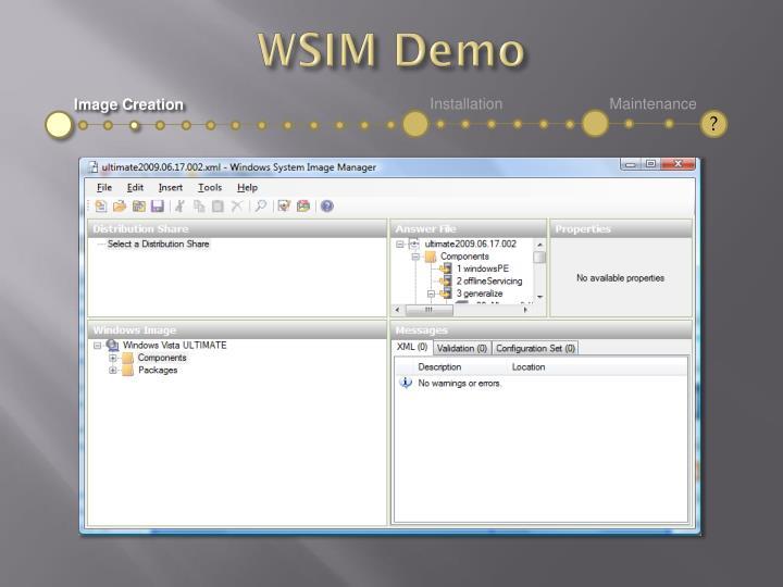 WSIM Demo