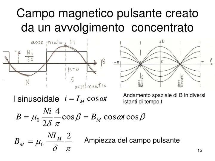 Campo magnetico pulsante creato da un avvolgimento  concentrato