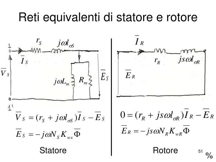 Reti equivalenti di statore e rotore