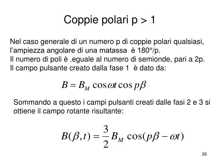 Coppie polari p > 1
