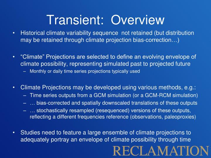 Transient:  Overview