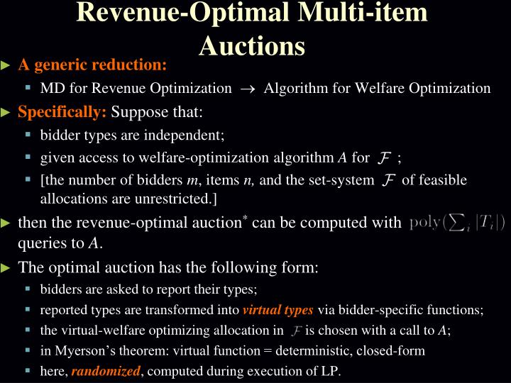 Revenue-Optimal Multi-