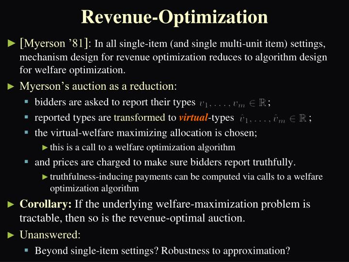 Revenue-Optimization